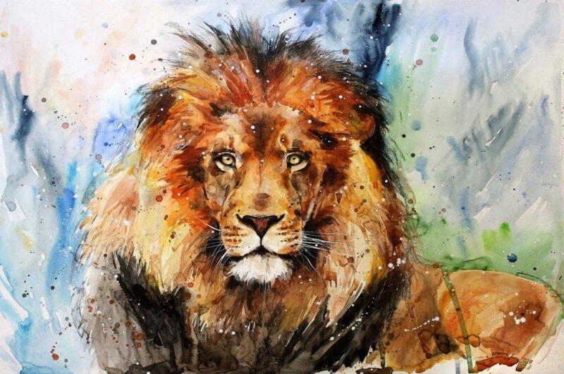 Как нарисовать льва поэтапно легко и просто