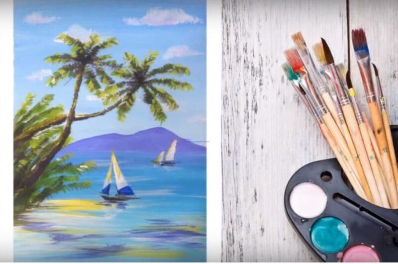Как нарисовать пальму карандашом поэтапно легко и просто