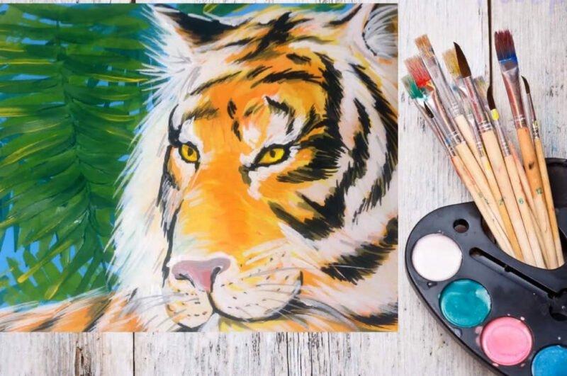 Как нарисовать тигра карандашом поэтапно для начинающих
