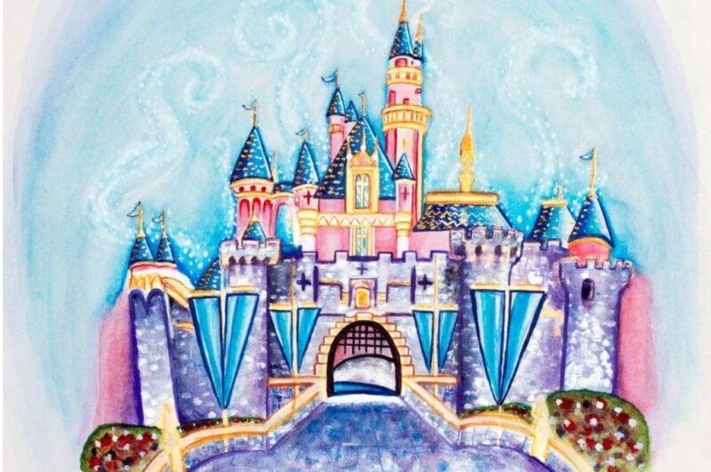 Как нарисовать замок поэтапно легко и красиво