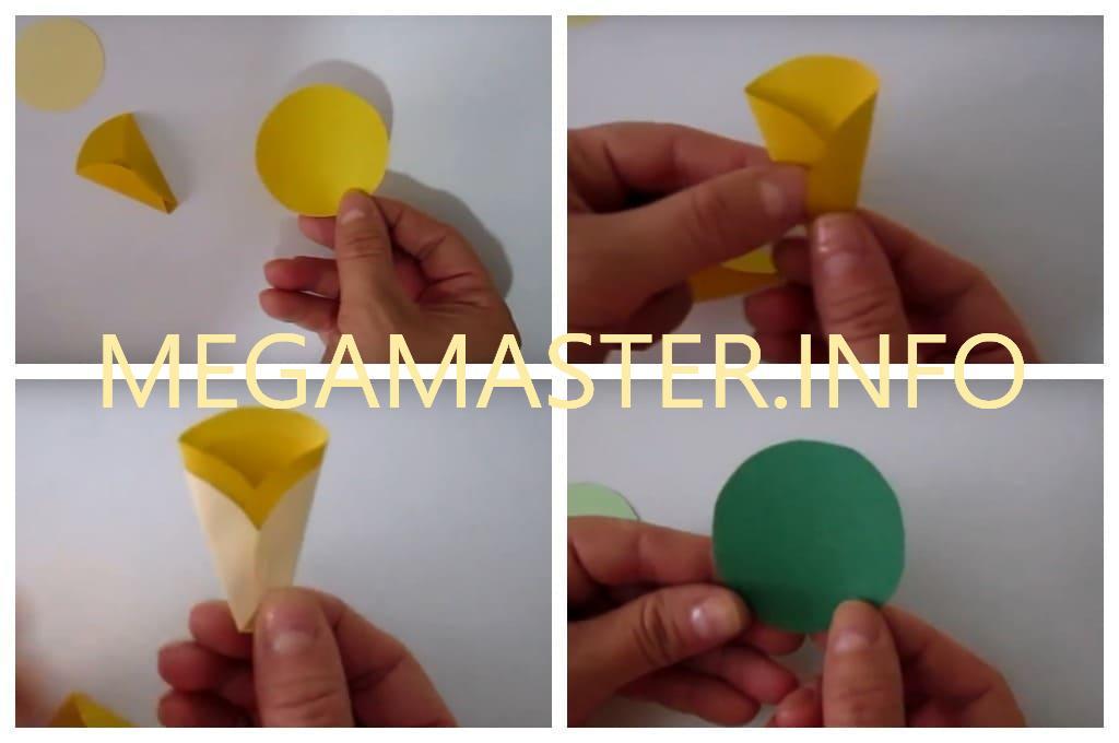Открытка с цветком из бумажных кружков (Шаг 1)