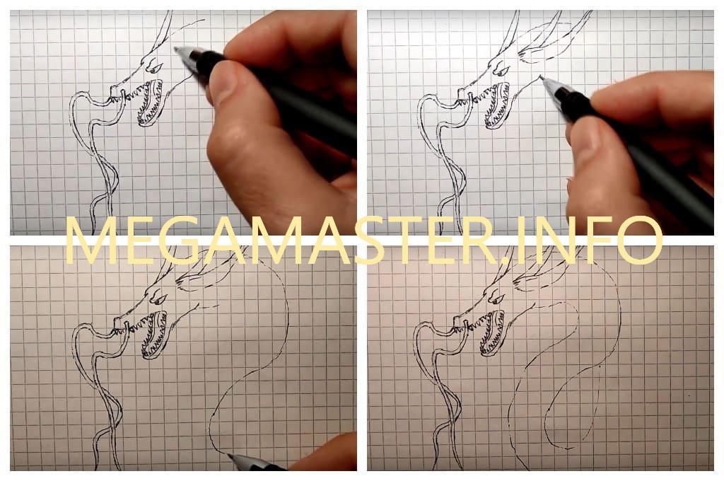 Рисунок китайского дракона (Шаг 2)