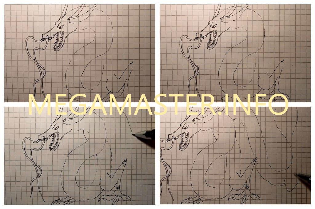 Рисунок китайского дракона (Шаг 3)