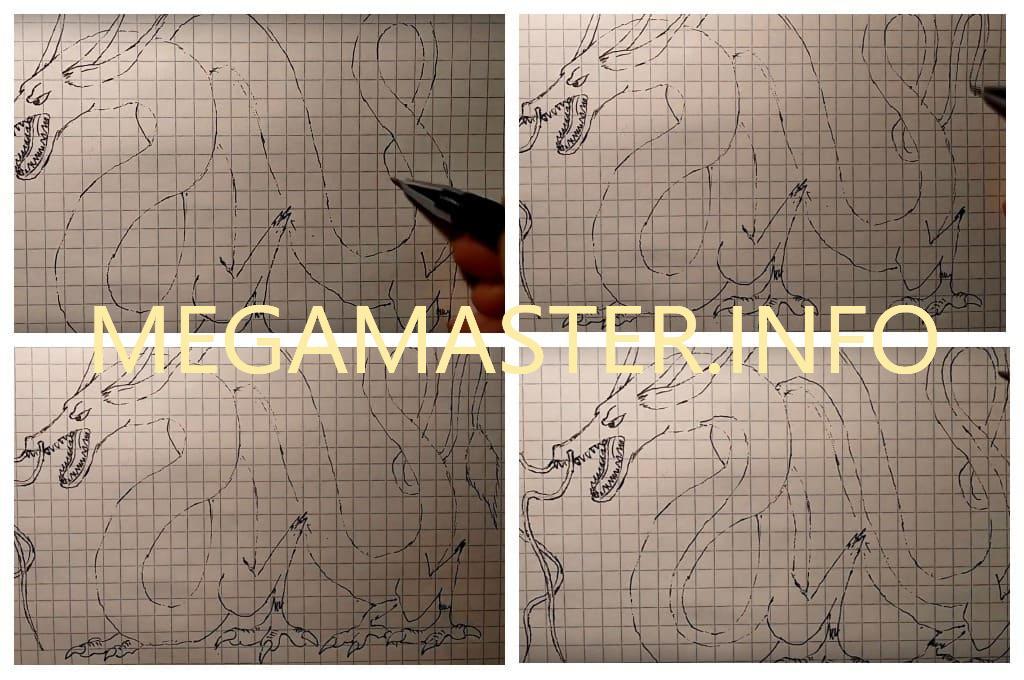 Рисунок китайского дракона (Шаг 4)