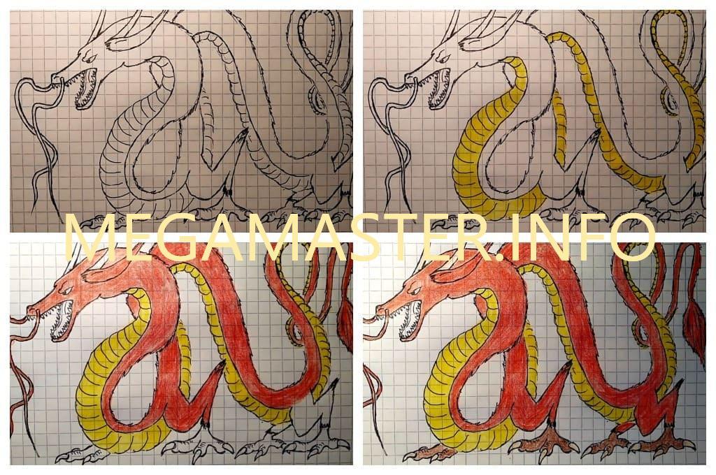 Рисунок китайского дракона (Шаг 5)