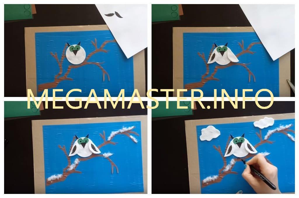 Сова на дереве (Шаг 2)