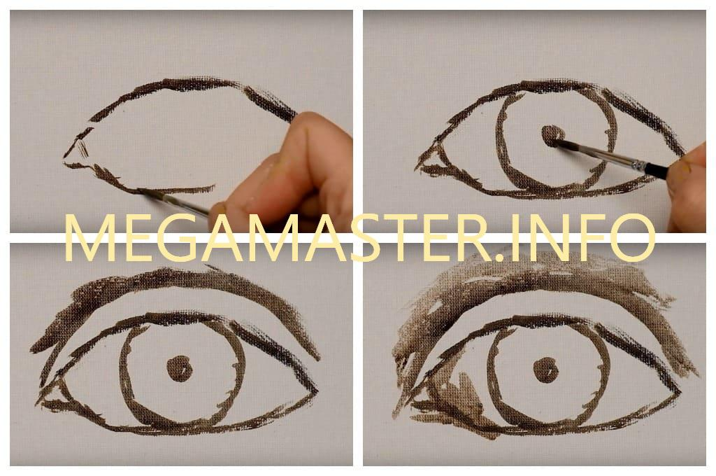 Глаза акриловыми красками (Шаг 1)
