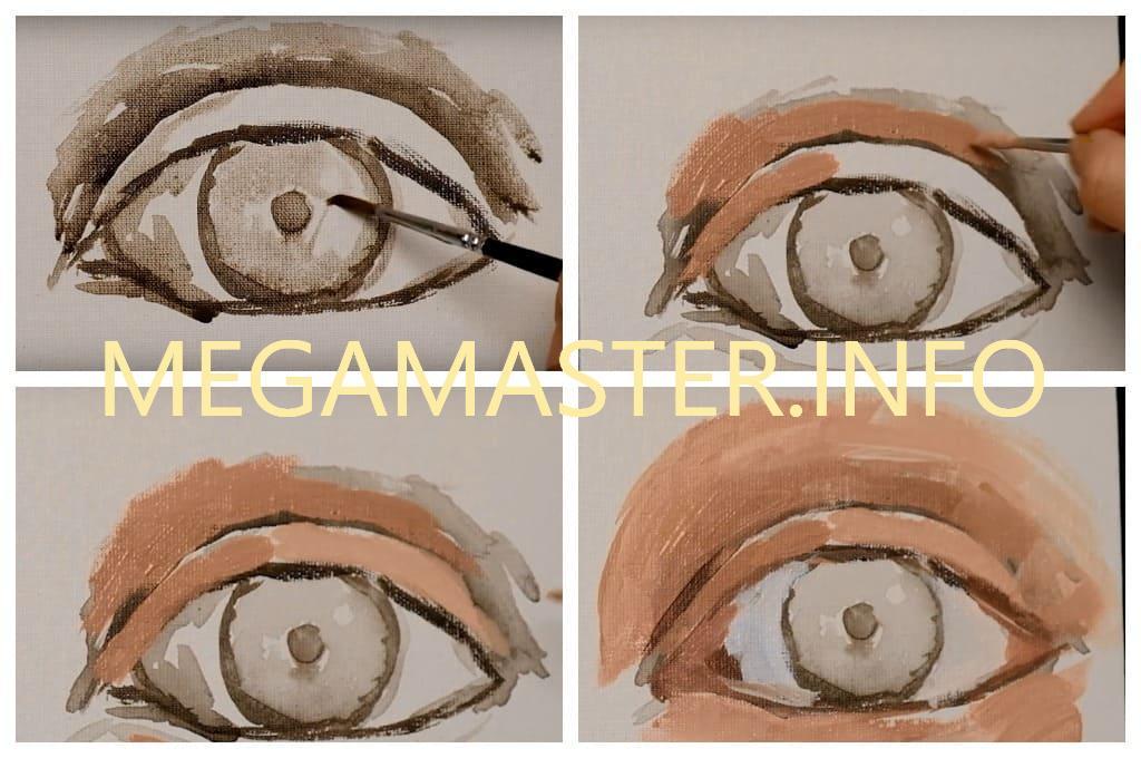 Глаза акриловыми красками (Шаг 2)
