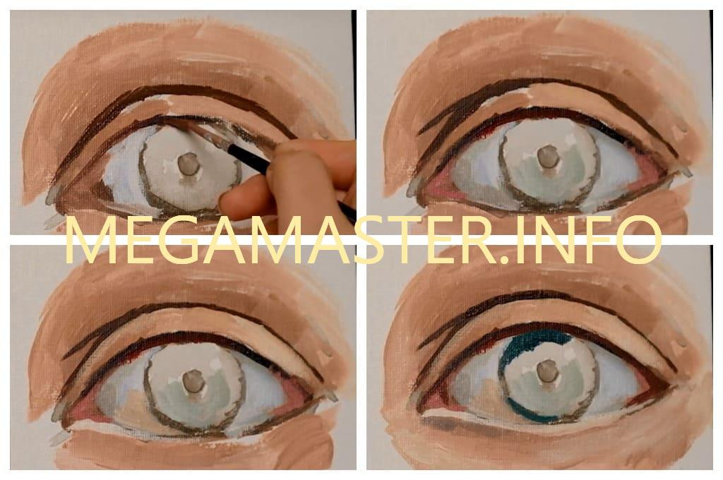 Глаза акриловыми красками (Шаг 3)