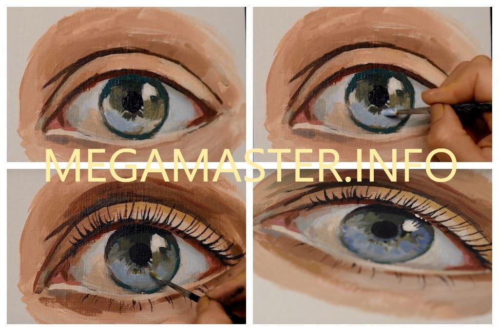 Глаза акриловыми красками (Шаг 4)