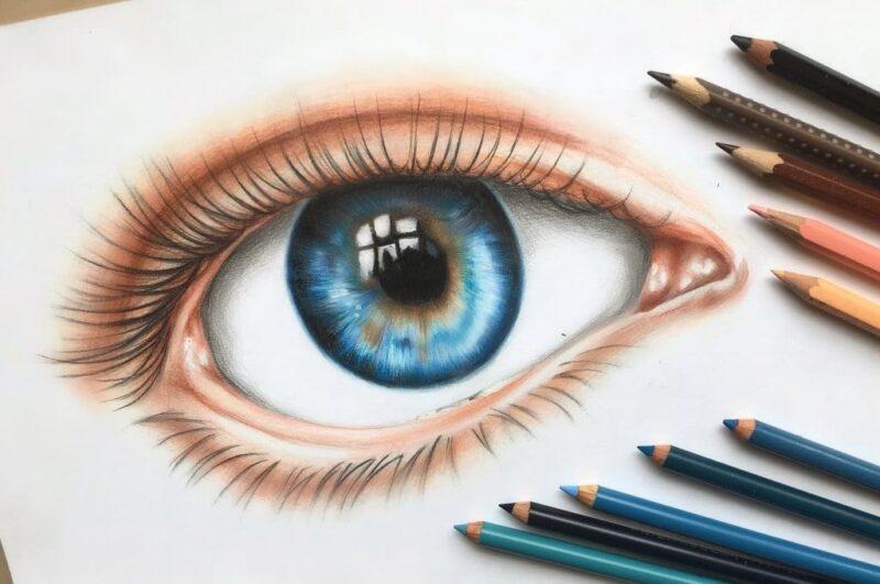 Как нарисовать глаза человека легко и красиво