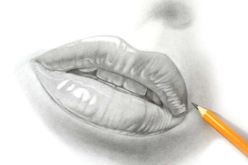 Как нарисовать губы карандашом поэтапно легко и красиво