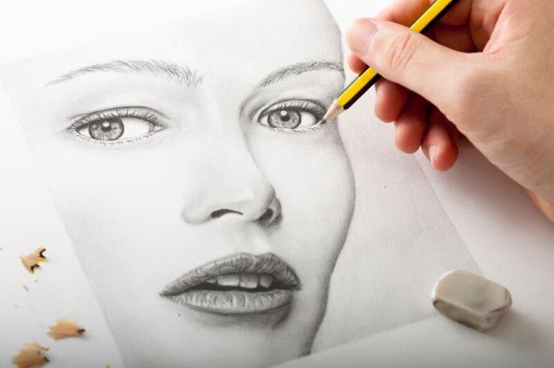 Как нарисовать лицо девушки карандашом поэтапно для портрета