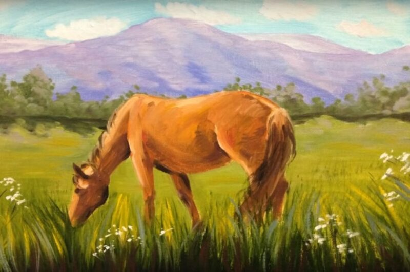 Как нарисовать лошадь поэтапно легко и красиво