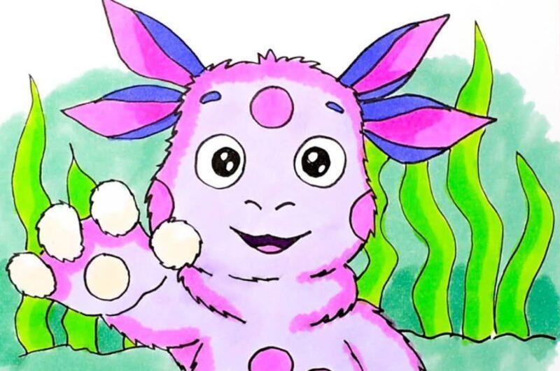 Как нарисовать Лунтика поэтапно для детей