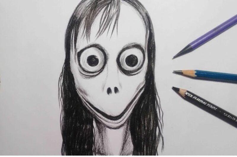 Как нарисовать Момо простым способом