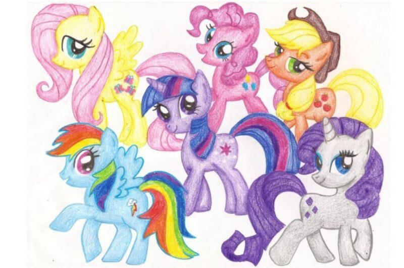 Как нарисовать пони из мультика дружба это чудо