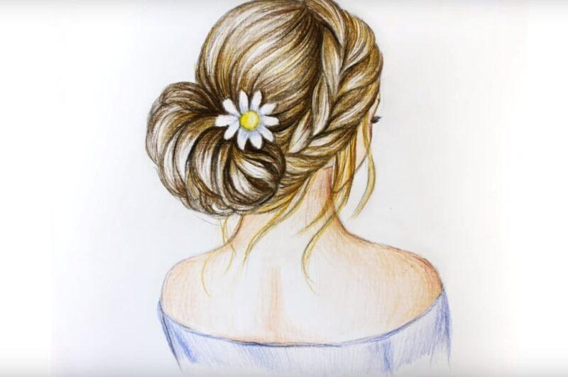 Как нарисовать волосы девушки карандашом легко и красиво