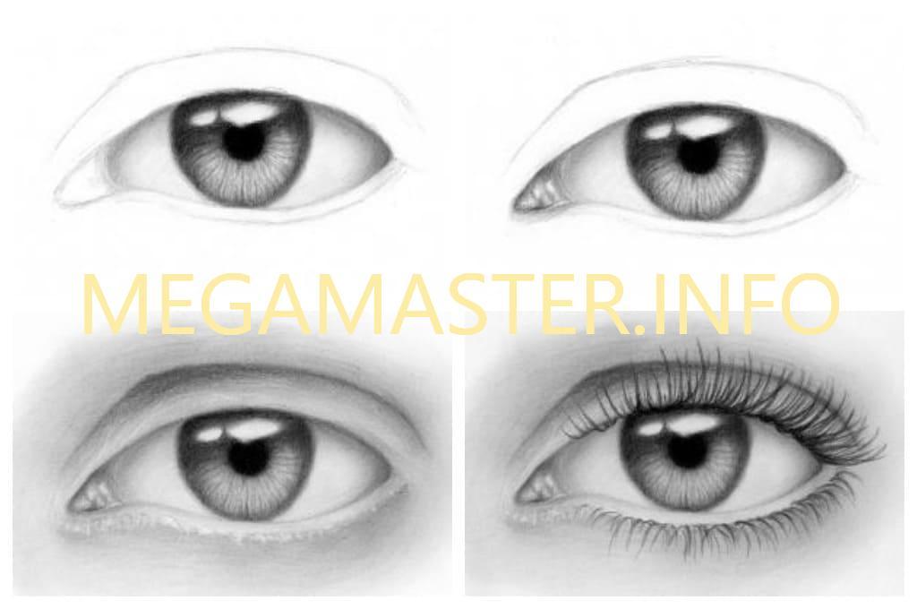 Общие принципы рисования глаз (Шаг 2)