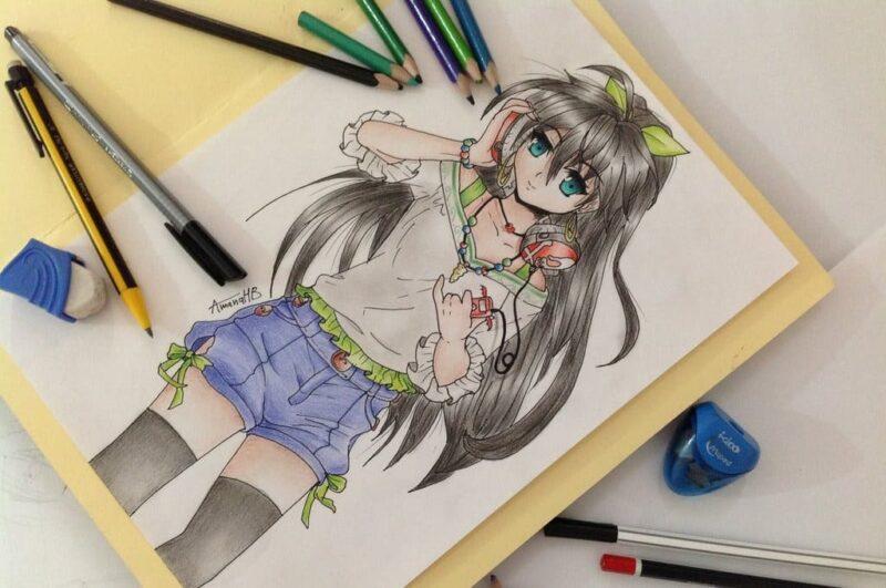 Как нарисовать аниме рисунок поэтапно для начинающих