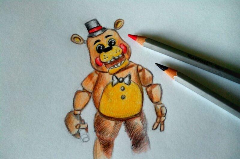 Как нарисовать Фредди из фнаф