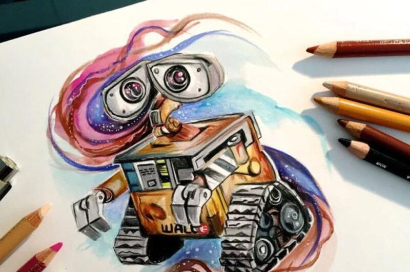 Как нарисовать робота карандашом поэтапно для детей