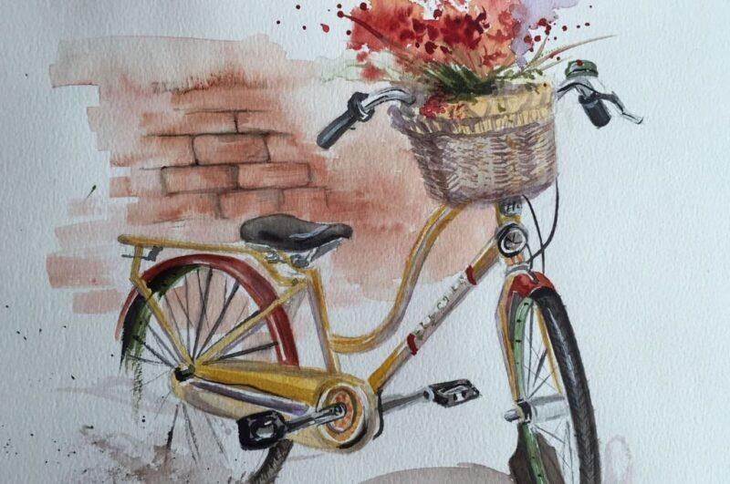 Как нарисовать велосипед карандашом поэтапно для начинающих