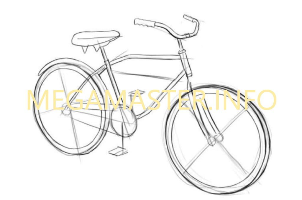 родственников картинки велосипедиста карандашом поэтапно наращивание