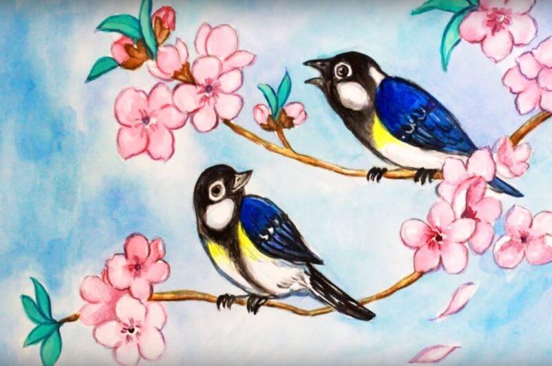 Как нарисовать весну карандашом легко и просто