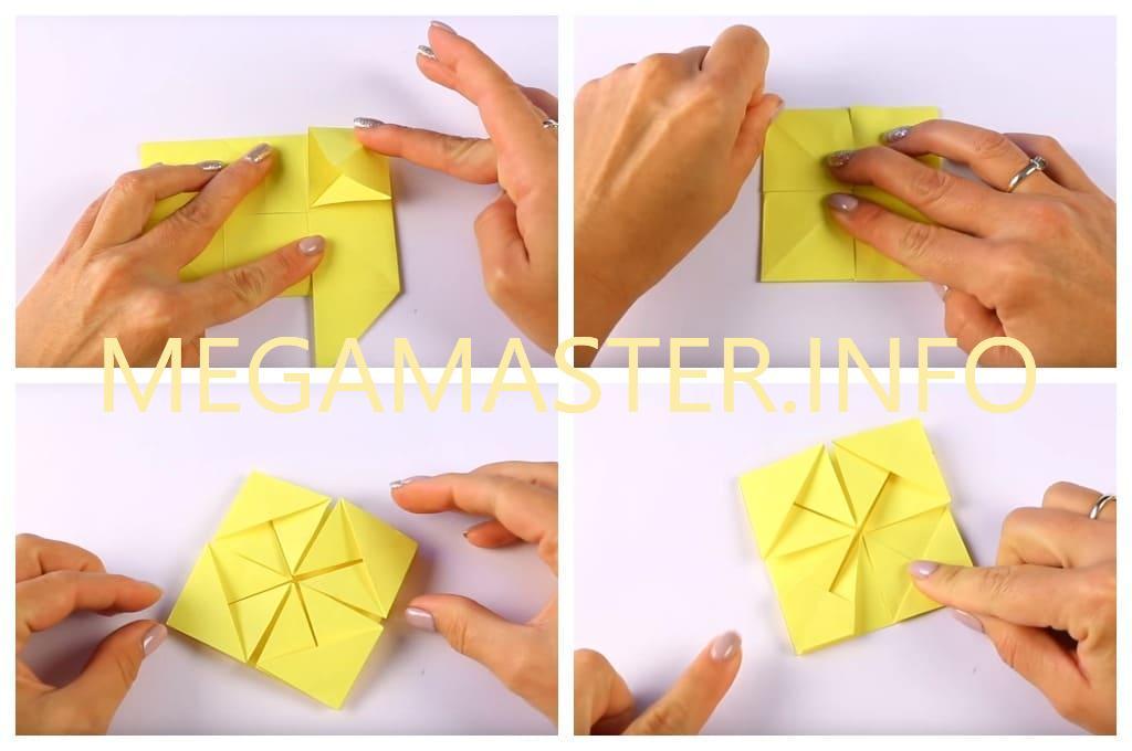 Корзинка в технике оригами (Шаг 3)