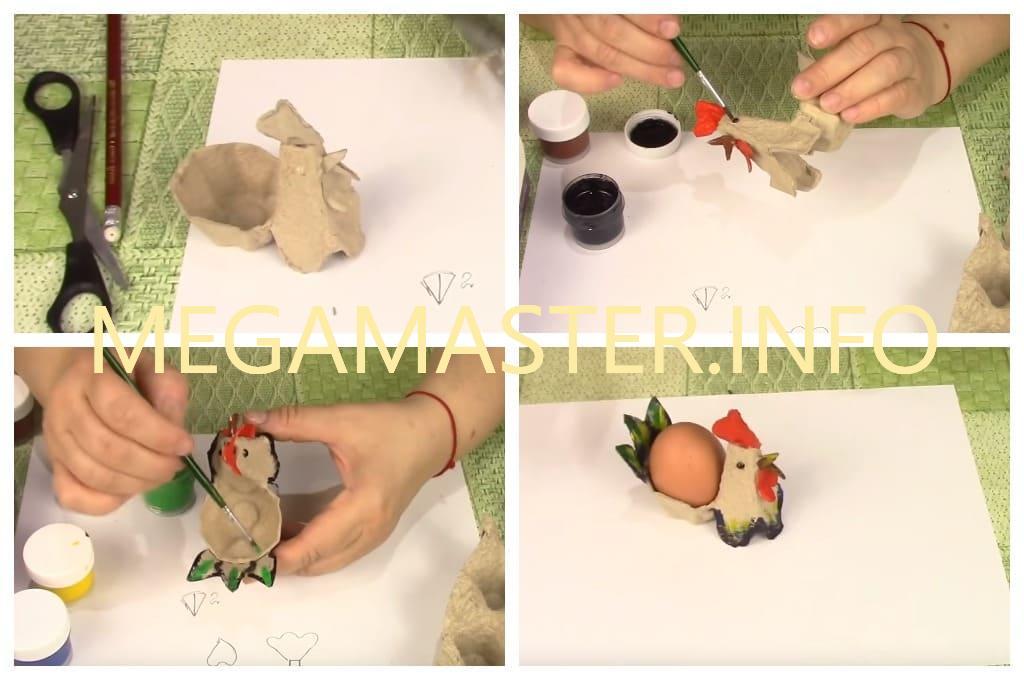 Красивые подставки для пасхальных яиц (Третий вариант Шаг 2)