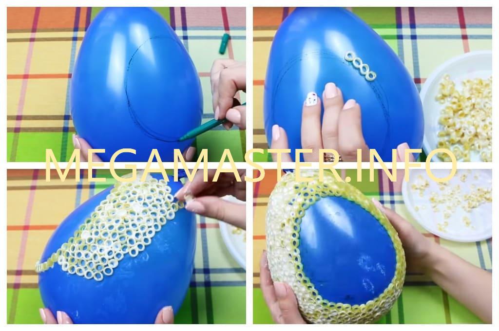 Поделки на Пасху из макарон в виде яйца (Шаг 1)