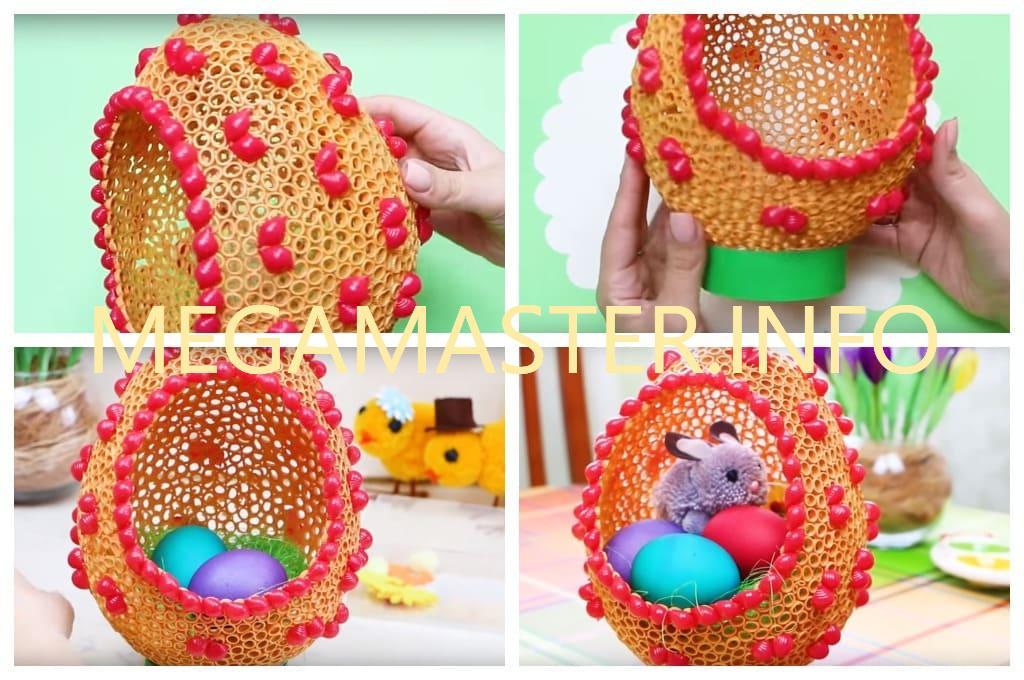 Поделки на Пасху из макарон в виде яйца (Шаг 3)