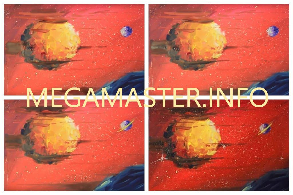 Марс рисунок красками (Шаг 4)