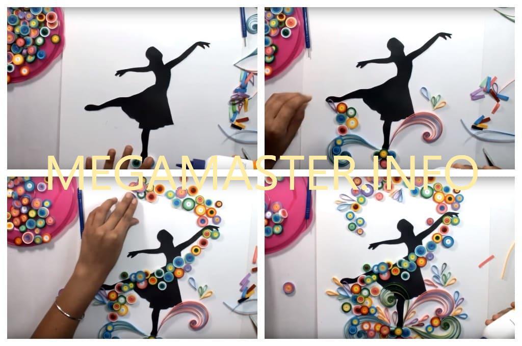 Яркая картина с балериной (Шаг 2)