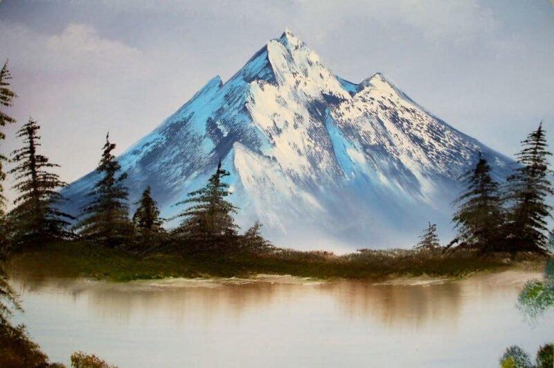 Как нарисовать горы карандашом или красками поэтапно
