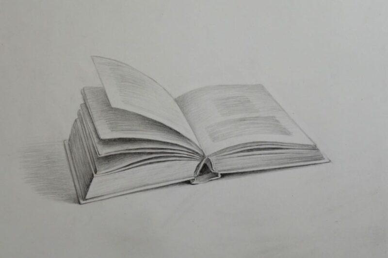 Как нарисовать книгу карандашом поэтапно