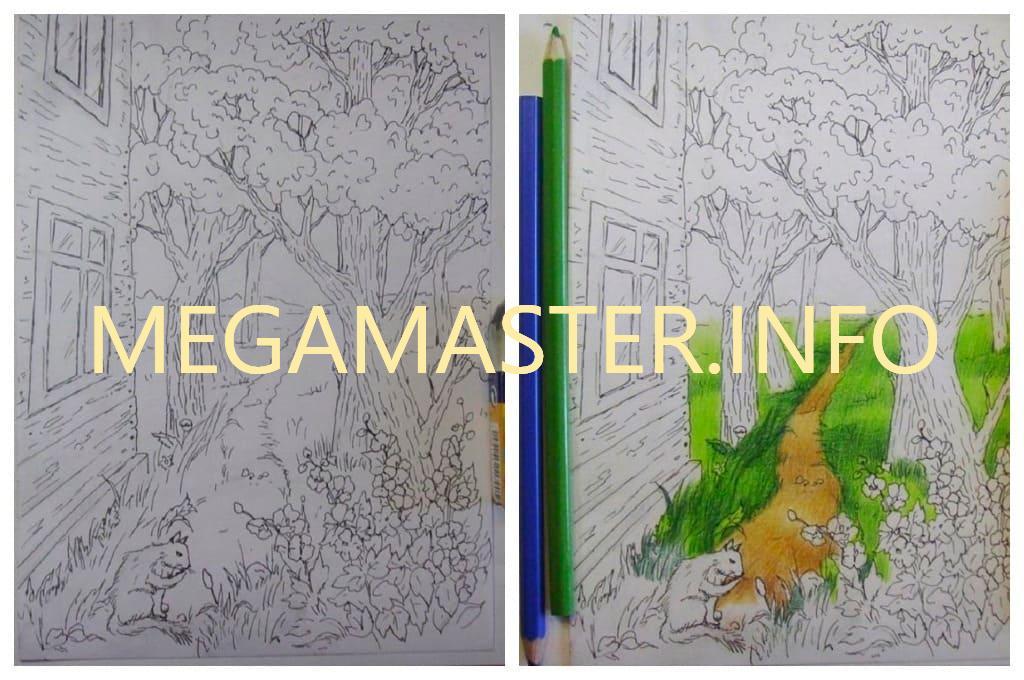 Как нарисовать лето карандашом для детей (Шаг 4)