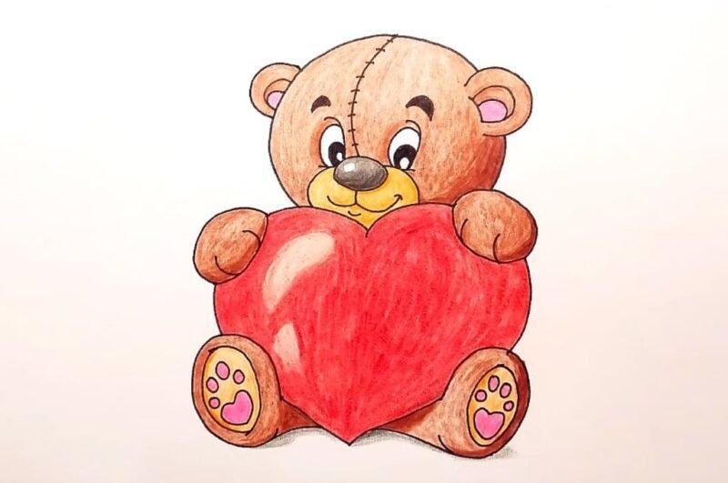 Как нарисовать мишку красиво для детей поэтапно