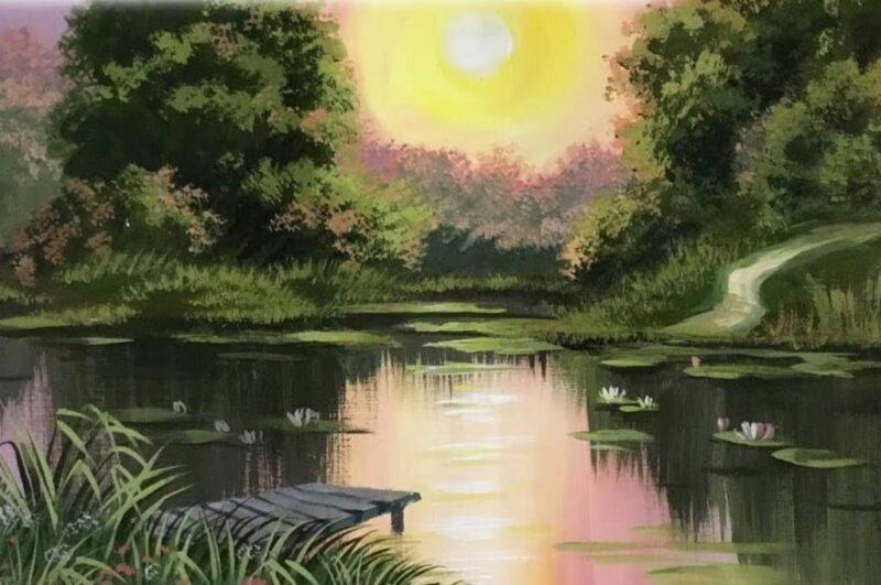 Как нарисовать пейзаж красиво поэтапно для начинающих