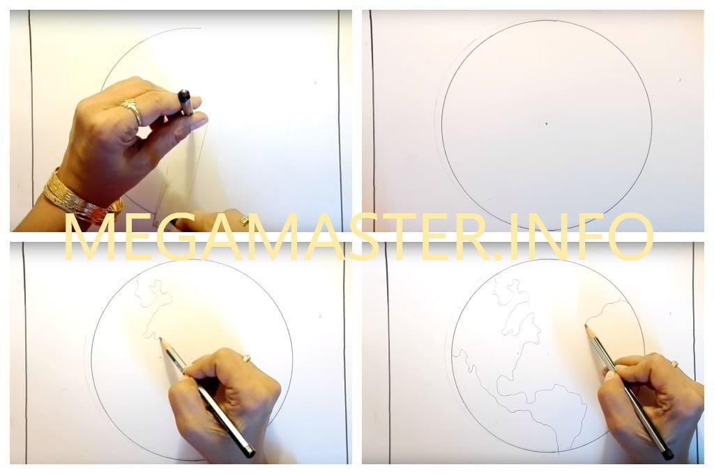 Как нарисовать планету масляной пастелью (Шаг 1)