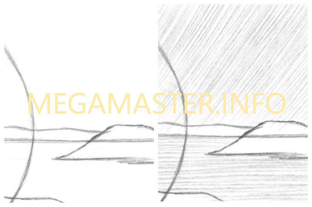 Картина простым карандашом (Шаг 1)