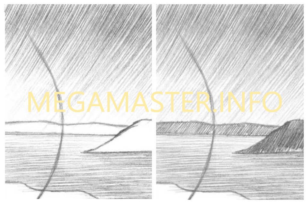 Картина простым карандашом (Шаг 2)