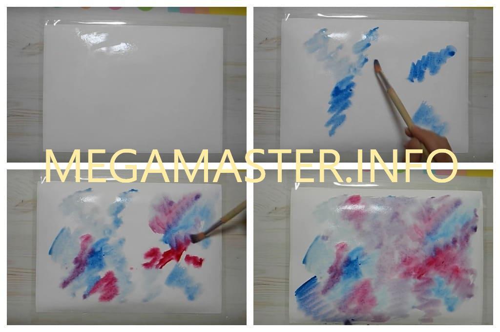 Красивая картинка красками (Шаг 1)