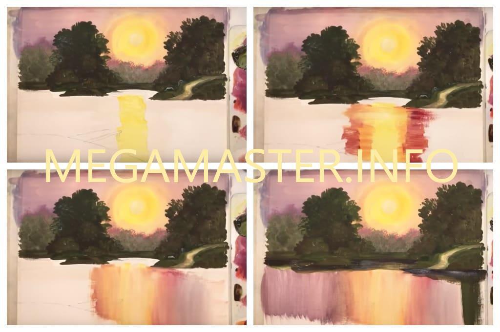 Красочная картина гуашью (Шаг 3)