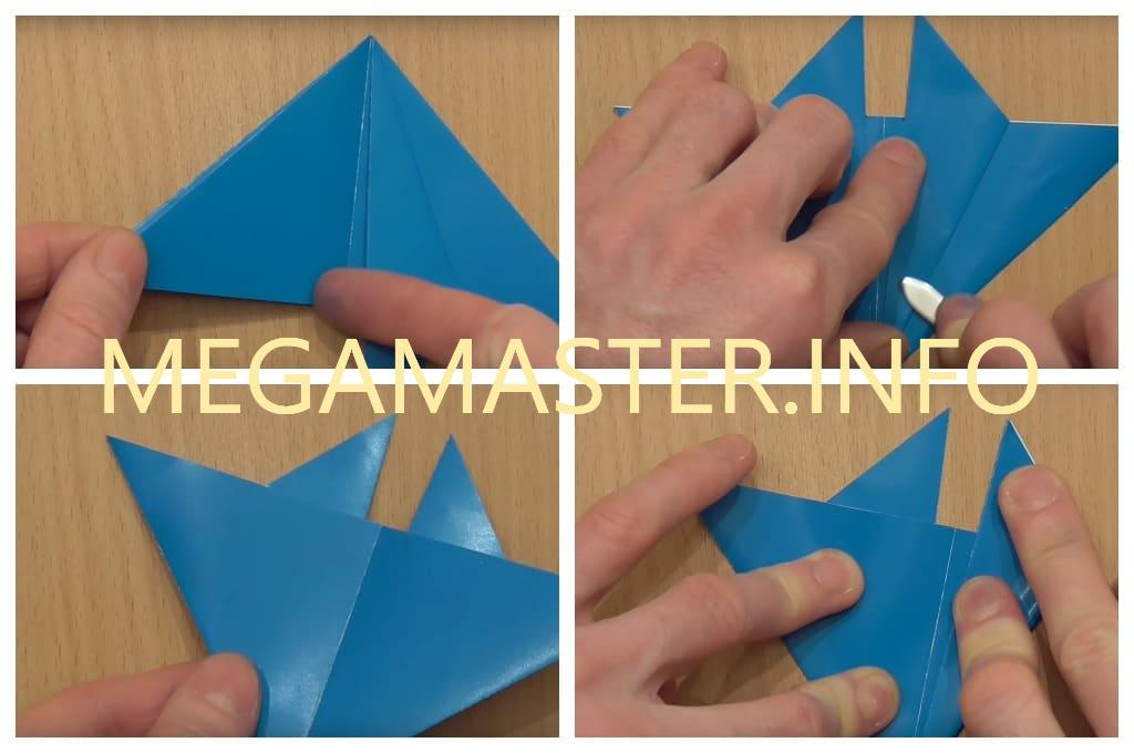 Летающая ракета из цветного картона (Шаг 2)