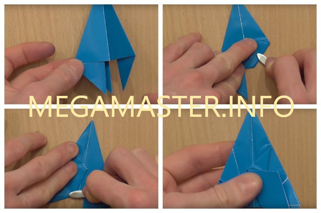 Летающая ракета из цветного картона (Шаг 3)