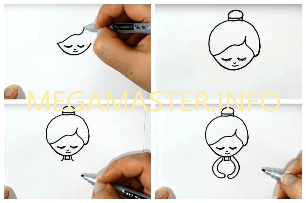 Лёгкий рисунок для детей (Шаг 1)