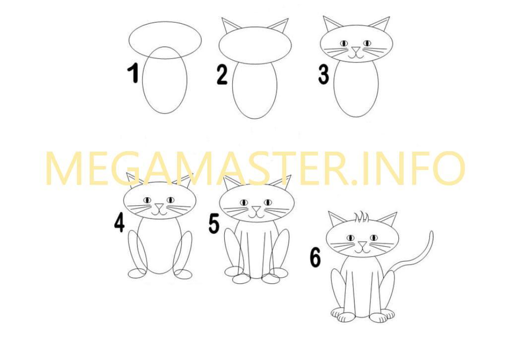 документов-домовая нарисовать смешного кота поэтапно еще