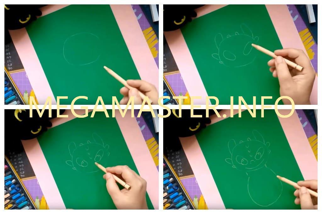 Рисуем мелками с детьми (Шаг 1)